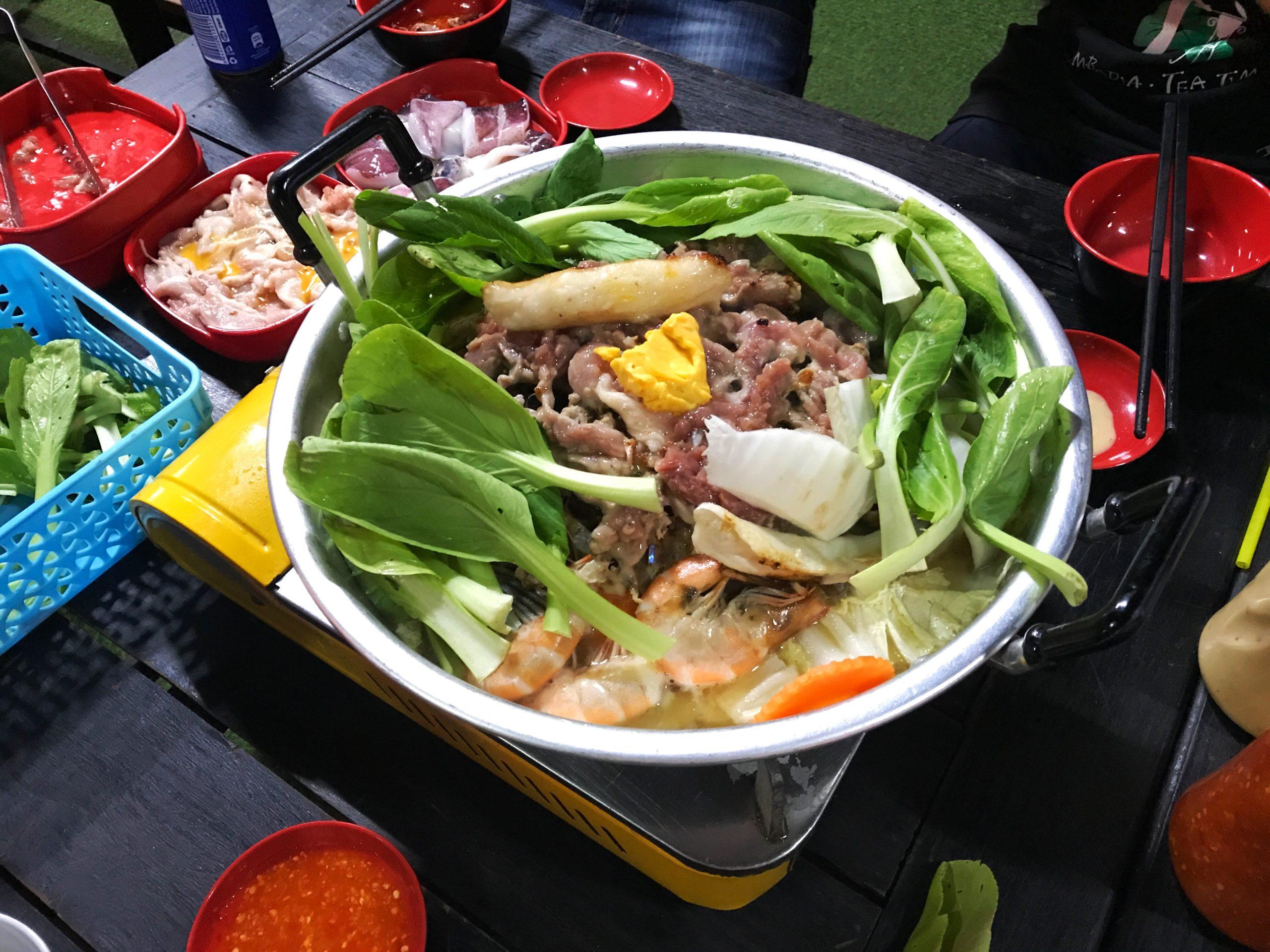 カンボジア・シェムリアップのパームコンテナナイトマーケットでカンボジアBBQを食べよう!